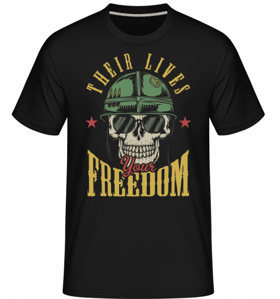 Their Lives Your Freedom -  Shirtinator Men's T-Shirt - Black - Vorn