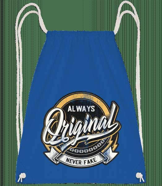 Always Original - Drawstring Backpack - Royal blue - Vorn