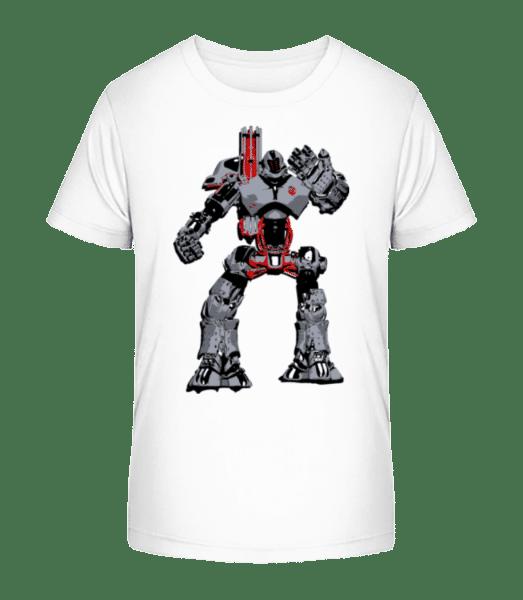Fighting Robots - Kid's Premium Bio T-Shirt - White - Vorn