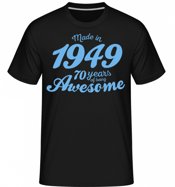 Made In 1949 70 Years -  T-Shirt Shirtinator homme - Noir - Devant