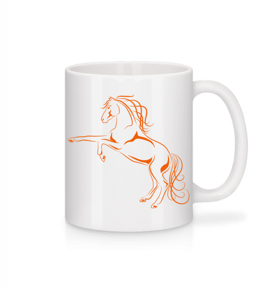 Horse Orange - Mug - White - Vorn