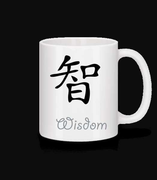 Chinese Sign Wisdom - Keramický hrnek - Bílá - Napřed