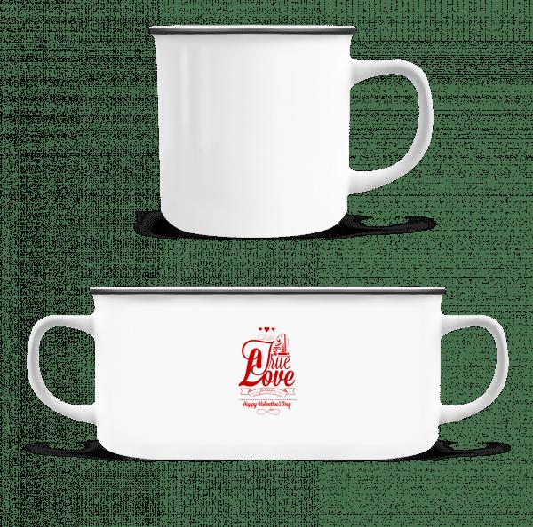 My True Love Valentine - Enamel-cup - White - Vorn