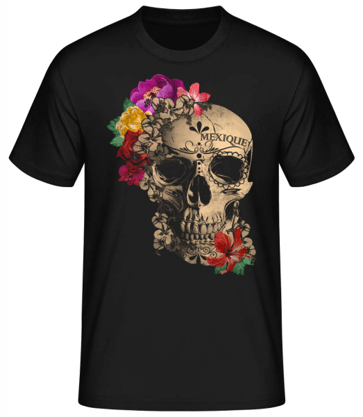 Skull Mexico - Men's Basic T-Shirt - Black - Front