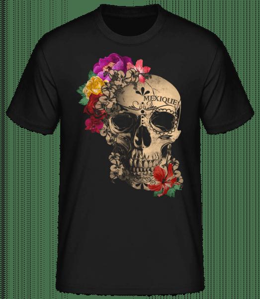 Skull Mexico - Pánské basic tričko - Černá - Napřed