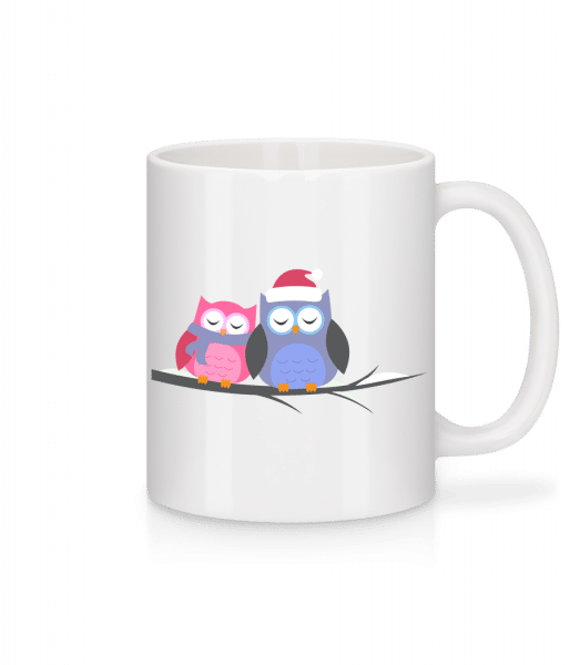 Christmas Owls - Mug - White - Vorn