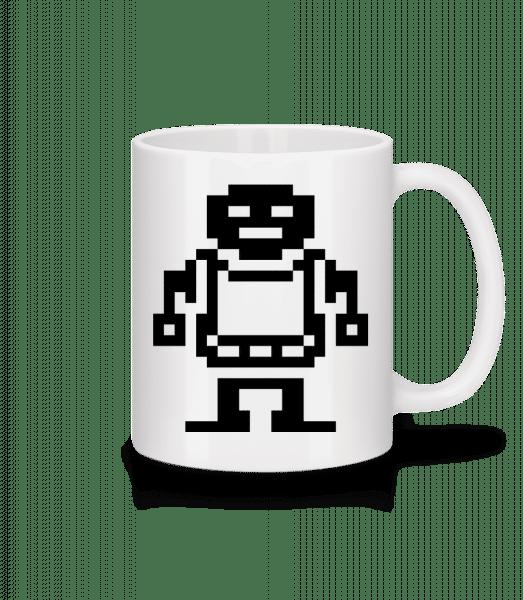 Pixel Roboter - Tasse - Weiß - Vorn