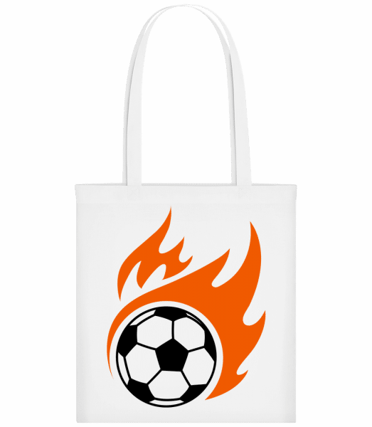 Football Flame - Carrier Bag - White - Vorn