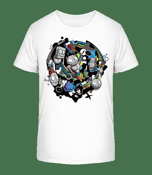 Monde Robot - Kid's Premium Bio T-Shirt - White - Vorn