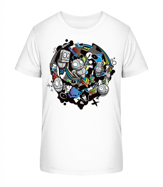 monde Robot - Detské Premium Bio tričko - Biela - Predné