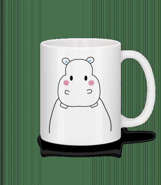 Cute Hippopotamus - Mug - White - Front