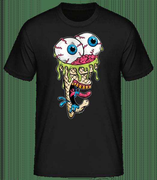 Horror Eis - Basic T-Shirt - Schwarz - Vorn