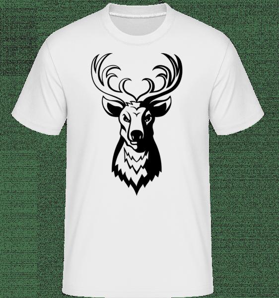 Cerf -  T-Shirt Shirtinator homme - Blanc - Devant