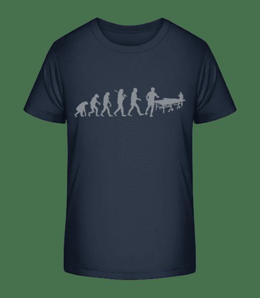 Evolution Of Table Tennis - Kid's Premium Bio T-Shirt - Navy - Vorn