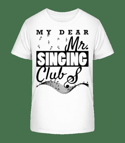 Der Mister Singing Club - Kinder Premium Bio T-Shirt - Weiß - Vorn