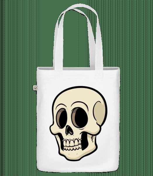 "Cartoon Skull - Organic ""Earth Positive"" tote bag - White - Vorn"