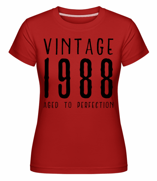 Vintage 1988 Aged To Perfection -  Shirtinator Women's T-Shirt - Red - Vorn