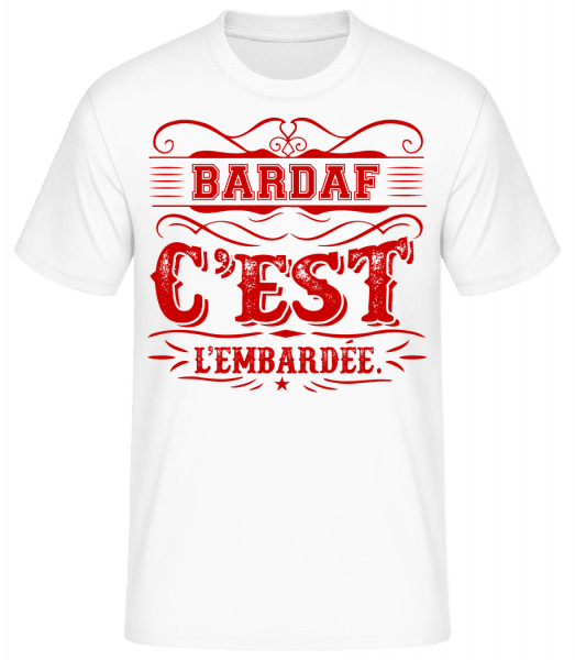 Bardaff C'Est L'embardée - T-shirt standard homme - Blanc - Vorn