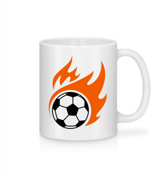 Football Flame - Tasse - Weiß - Vorn