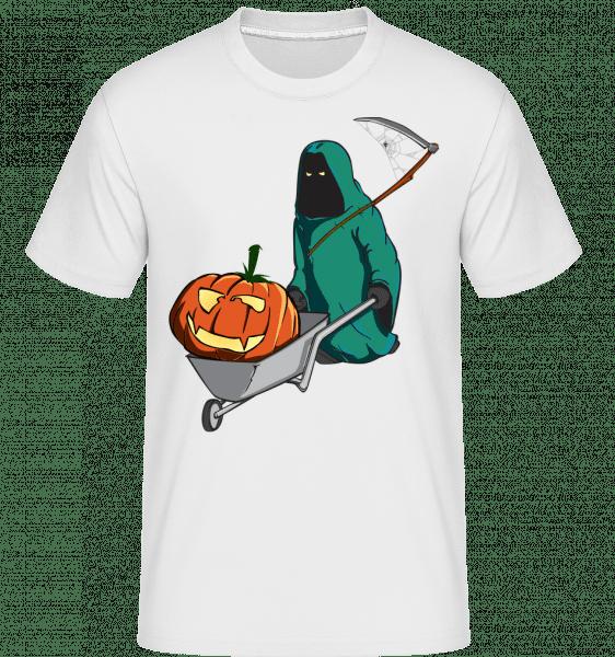 Halloween Grim Reaper -  Shirtinator Men's T-Shirt - White - Vorn