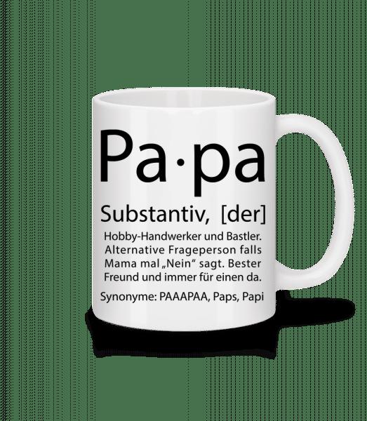 Papa Wörterbuch - Tasse - Weiß - Vorn
