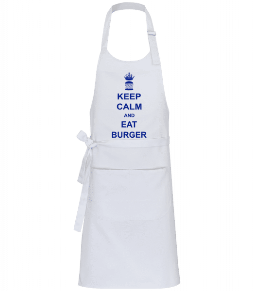 Keep Calm And Eat Burger - Professional Apron - White - Front