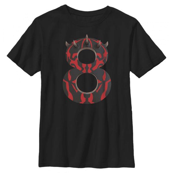 Maul Eight Darth Maul - Star Wars - Kids T-Shirt - Black - Front