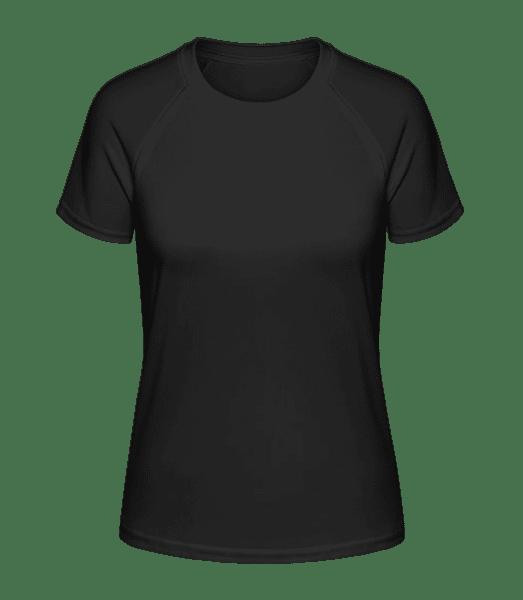 Women's Sport T-Shirt - Black - Front