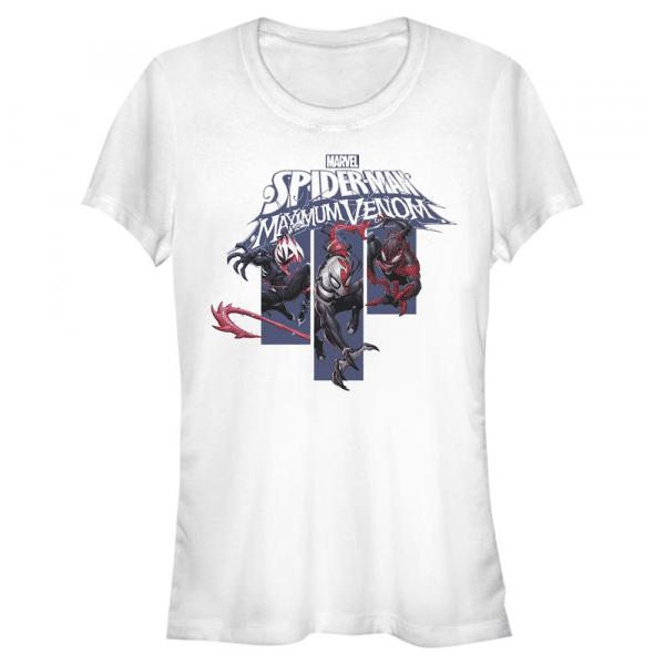 Venom Banners Spider-Man - Marvel - Women's T-Shirt - White - Front