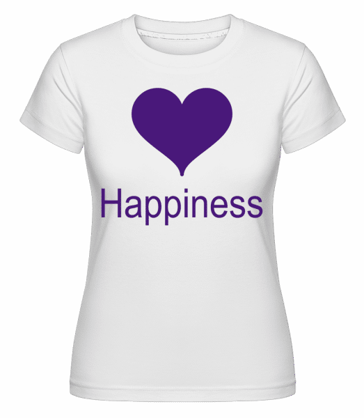 Happiness Heart - Shirtinator Frauen T-Shirt - Weiß - Vorn