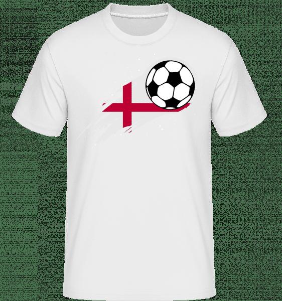 Englische Fahne Fußball - Shirtinator Männer T-Shirt - Weiß - Vorn