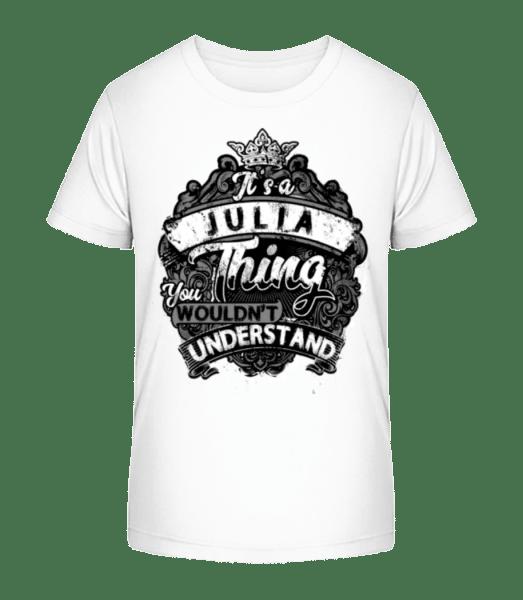 It's A Julian Thing - Kid's Premium Bio T-Shirt - White - Front