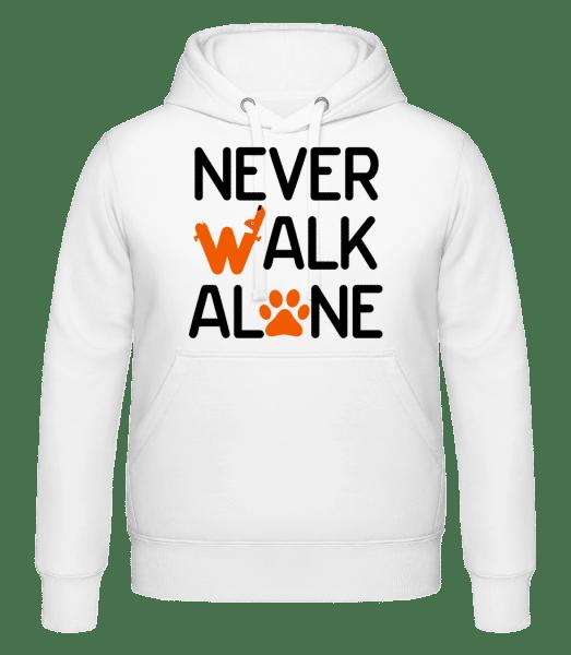 Never Walk Alone - Mikina s kapucňou - Biela - Predné