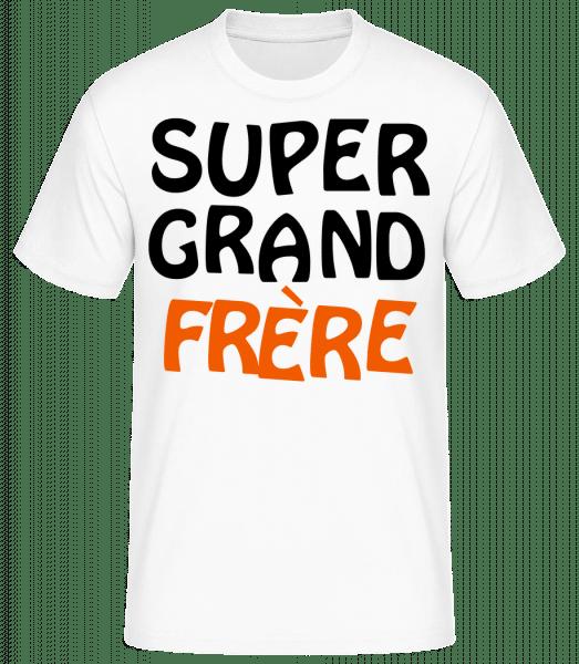 Super Grand Frère - T-shirt standard Homme - Blanc - Vorn