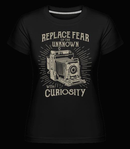 Replace Fear -  Shirtinator Women's T-Shirt - Black - Vorn