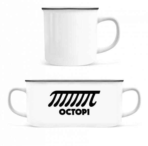 Octopi - Enamel-cup - White - Front