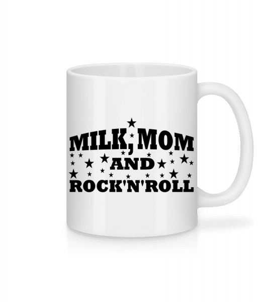 Milk Mom And Rock'N'Roll - Mug - White - Front