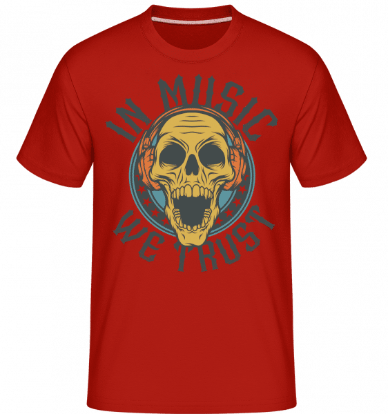 In Music We Trust -  Shirtinator Men's T-Shirt - Red - Vorn