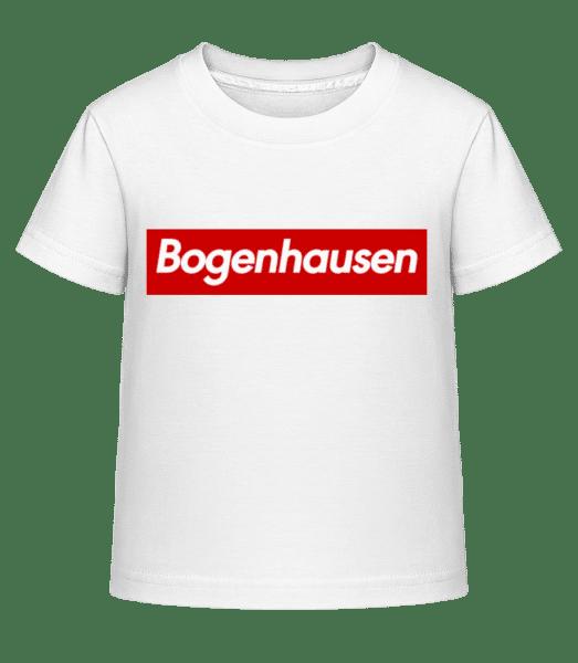 Bogenahausen - Kinder Shirtinator T-Shirt - Weiß - Vorn