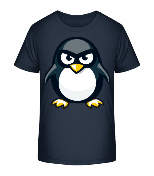 Penguin Kids - Kinder Premium Bio T-Shirt - Marine - Vorn