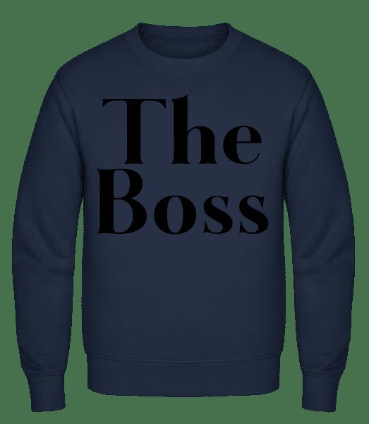 The Boss - Classic Set-In Sweatshirt - Navy - Vorn