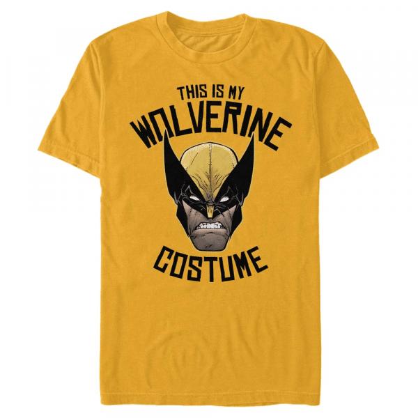 Wolverine is Costume - Marvel X-Men - Men's T-Shirt - Yellow - Front