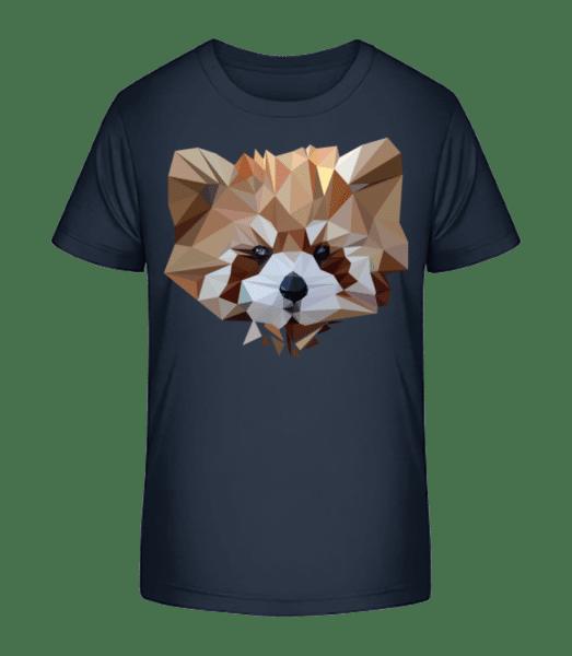 Polygon Bear - Kid's Premium Bio T-Shirt - Navy - Vorn