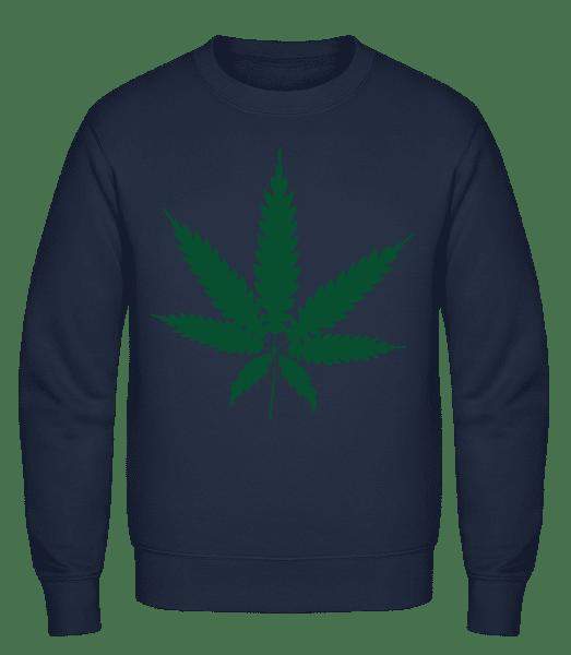 Cannabis - Classic Set-In Sweatshirt - Navy - Vorn