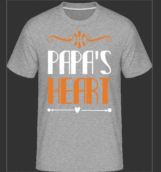 Papa's Heart -  Shirtinator Men's T-Shirt - Heather grey - Vorn