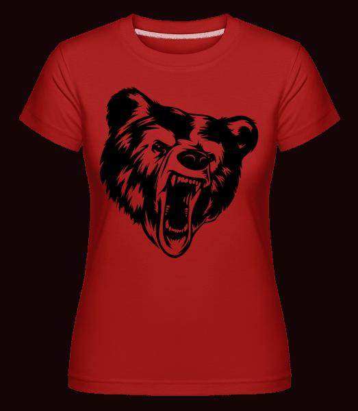 Wild Bear Icon -  Shirtinator Women's T-Shirt - Red - Vorn