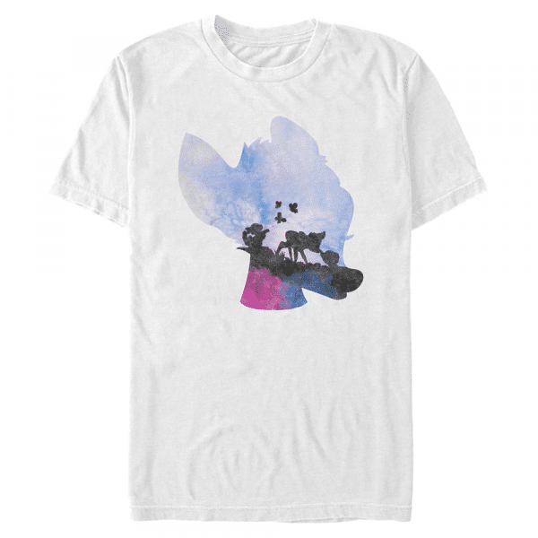 Watercolor Bambi - Disney - Men's T-Shirt - White - Front