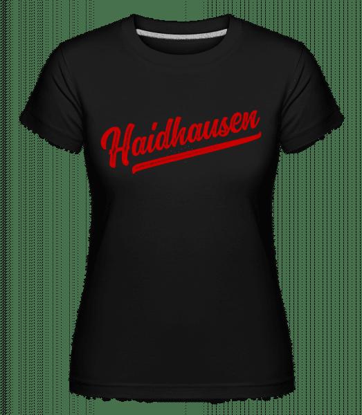 Haidhausen Swoosh - Shirtinator Frauen T-Shirt - Schwarz - Vorn