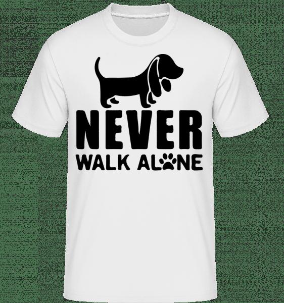 Never Walk Alone Dog -  Shirtinator Men's T-Shirt - White - Vorn