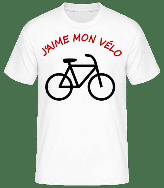 J'Aime Mon Vélo - T-shirt standard Homme - Blanc - Vorn